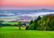 Alba nelle alpi in Austria Fotografia Stock Libera da Diritti