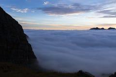 Alba nelle alpi austriache, Europa Fotografie Stock Libere da Diritti