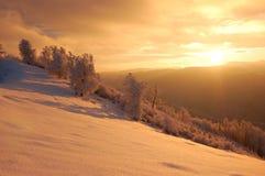 Alba nelle montagne Fotografia Stock Libera da Diritti