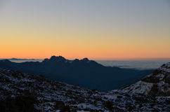 Alba nelle montagne Fotografie Stock