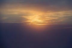 Alba nelle nubi Fotografia Stock Libera da Diritti