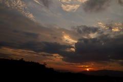 Alba nuvolosa Fotografia Stock
