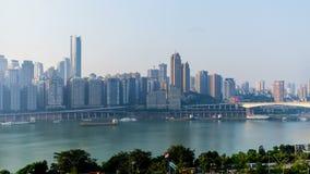 ALBA Orizzonte della città di Chongqing Lasso di tempo stock footage