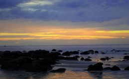 Alba paese di alba del mare al bello Immagine Stock Libera da Diritti