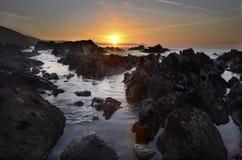 Alba Portwrinkle Cornovaglia di mattina Fotografia Stock