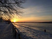 Alba recente a Kostroma Fotografia Stock