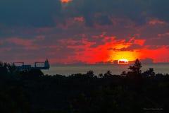 alba rossa del cielo Immagini Stock Libere da Diritti