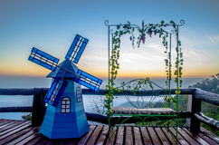 Alba scenica, tramonto Fotografie Stock Libere da Diritti