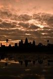 Alba sopra AngkorWat Fotografia Stock