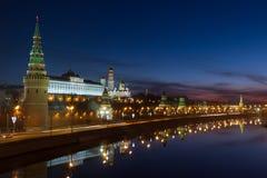 Alba sopra il Cremlino di Mosca Fotografia Stock