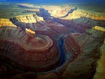 Alba sopra il grande canyon Fotografie Stock Libere da Diritti