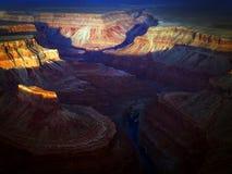 Alba sopra il grande canyon Fotografie Stock