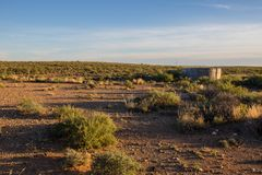 Alba sopra il karoo nel Sudafrica Immagini Stock