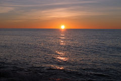 Alba sopra il mar Mediterraneo Fotografie Stock
