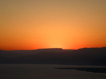 Alba sopra il mar Morto Fotografie Stock