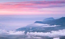 Alba sopra il mare Fotografia Stock Libera da Diritti