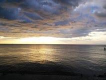 Alba sopra il mare Immagine Stock