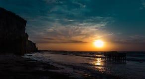 Alba sopra il mare del ‹Azov del †del ‹del †fotografia stock libera da diritti