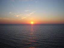 Alba sopra il Mare del Nord Fotografia Stock Libera da Diritti