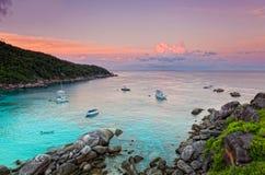 Alba sopra il mare delle Andamane Fotografia Stock