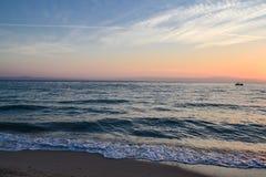 Alba sopra il mare Vista marina Immagini Stock Libere da Diritti