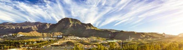 Alba sopra il parco nazionale di EL Teide Immagine Stock
