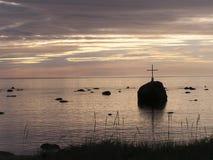 Alba sopra il posto commemorativo fotografia stock