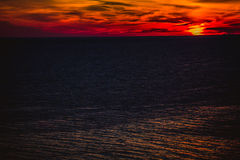 Alba sopra l'Oceano Atlantico Fotografia Stock