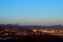 Alba sopra la città Fotografia Stock Libera da Diritti