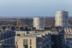 Alba sopra la città immagine stock libera da diritti