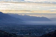 Alba sopra la contea di Utah immagini stock libere da diritti