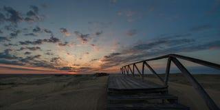 Alba sopra la sabbia del deserto Immagine Stock Libera da Diritti