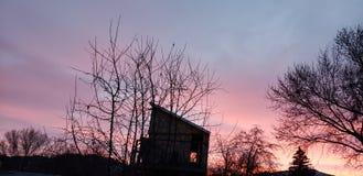 Alba sopra Lakeview, Oregon fotografie stock libere da diritti