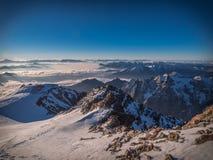 Alba sopra le alpi del dauphiné Immagine Stock Libera da Diritti