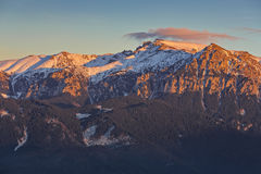 Alba sopra le montagne Fotografia Stock Libera da Diritti