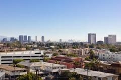 Alba sopra Los Angeles Immagini Stock Libere da Diritti