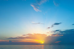 Alba sopra Oceano Atlantico Fotografie Stock Libere da Diritti