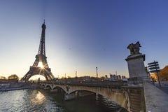Alba sopra Parigi Fotografia Stock Libera da Diritti