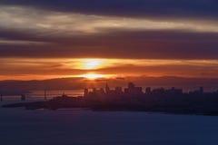 Alba sopra San Francisco fotografia stock