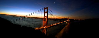 Alba sopra San Francisco Bay Immagine Stock Libera da Diritti