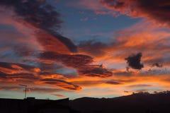 Alba sopra Sierra Nevada Fotografia Stock