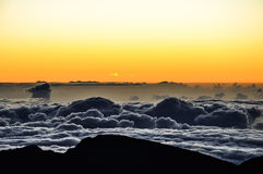 Alba spettacolare al cratere di Haleakala - Maui, Hawai Immagine Stock