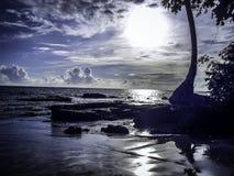 Alba in spiaggia sul Brasile Immagini Stock Libere da Diritti