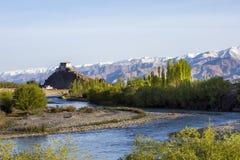 Alba a Stakna Monastry - Ladakh India Immagini Stock Libere da Diritti