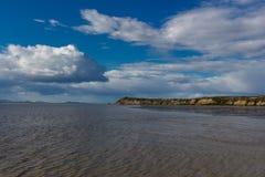 Alba su Bristol Bay da Ekuk Alaska fotografie stock