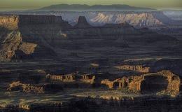 Alba su Canyonlands Immagini Stock