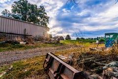 Alba su grande Virginia Farm fotografia stock libera da diritti