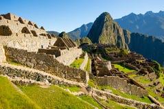 Alba su Machu Picchu, la città persa dell'inca Immagine Stock
