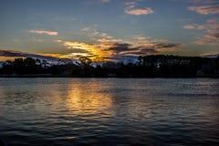Alba su Sarah Creek al punto VA di Gloucester fotografie stock