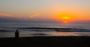 Alba su Thuan An Beach Fotografia Stock